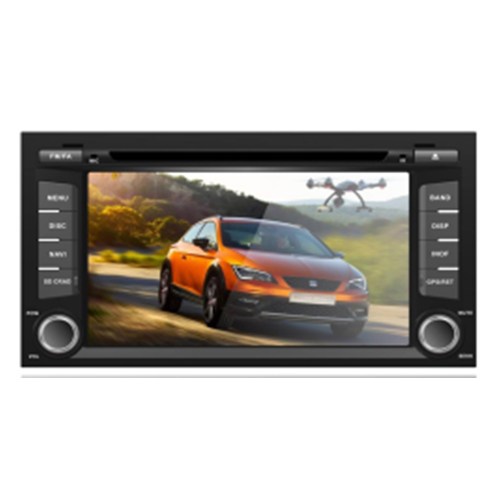 Seat Leon 2013 Android car gps dvd stereo player 7\'\' Touch Screen Android 7.1/6.0 WIFI Eight Band Freemap Auto Navigator RDS Bluetooth
