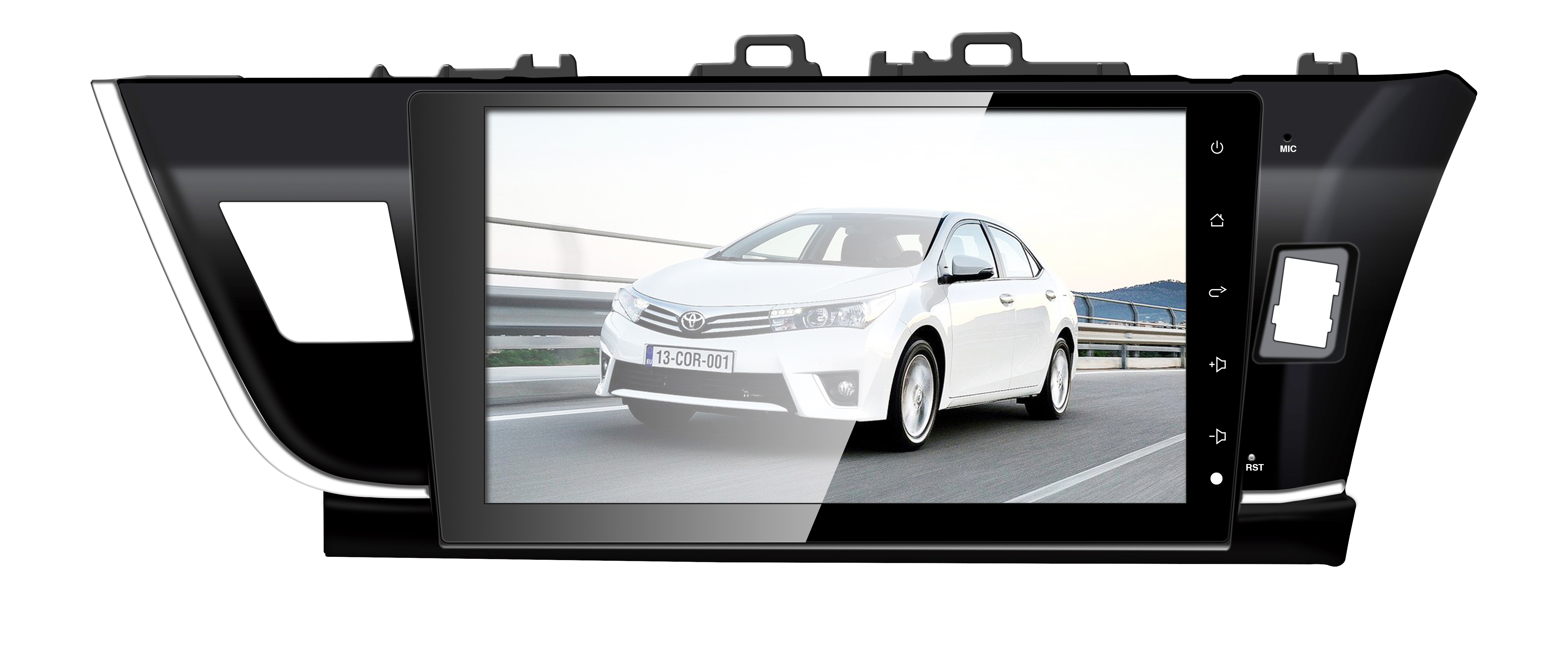 TOYOTA Corolla RHD 2013 10.1'' Touch Screen Car Pad Android 7.1/6.0 FM AM Radio Auto GPS navi Bluetooth Quad/Eight Cores 2G 32G Wifi Mirror link RDS